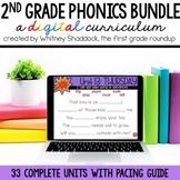 Second Grade Digital Phonics Curriculum, Growing BUNDLE