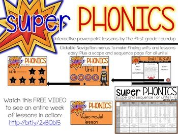 Second Grade Digital Phonics Curriculum, Units 1-6 BUNDLE