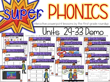 Second Grade Digital Phonics Curriculum Units 29-33 BUNDLE
