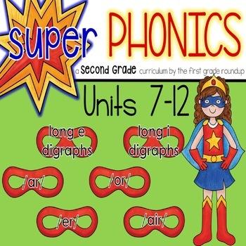Second Grade Digital Phonics Curriculum, Units 7-12