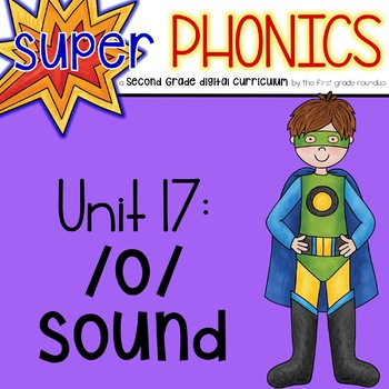 Second Grade Digital Phonics Unit 17 on the AW Sound Spelling Pattern