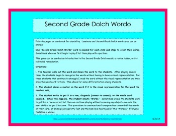 Second Grade Doich Wordo game