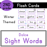 Second Grade - Dolce Sight Words - 46 Winter Themed Flash Cards