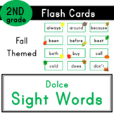 Second Grade - Dolce Sight Words - 46 Fall Themed Flash Cards