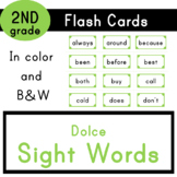 Second Grade - Dolce Sight Words - 46 Flash Cards