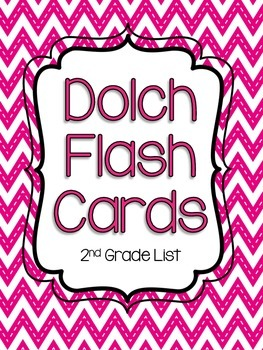 Second Grade Dolch Flash Cards