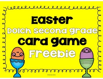 Second Grade Dolch Game Easter FREEBIE