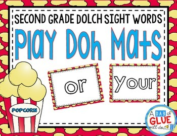 Play Doh Mats: Second Grade Dolch {Popcorn}