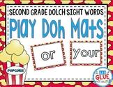 Play Doh Mats: Second Grade Dolch {Popcorn}