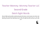 Second Grade Dolch Sight Word Flashcards