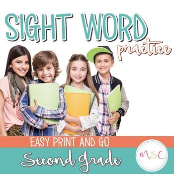 Sight Word Practice -- Second Grade