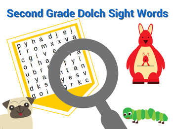 Second Grade Dolch Sight Word Searches