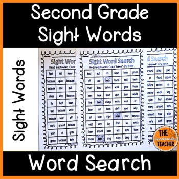 Second Grade Sight Word Searches