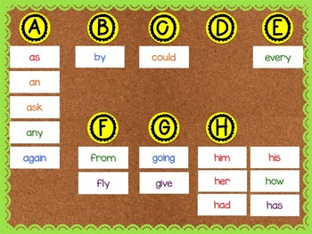 Second Grade Dolch Sight Word - Word Wall Cards