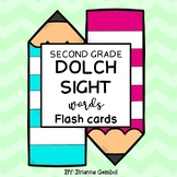 Second Grade Dolch Sight Words Flash Cards
