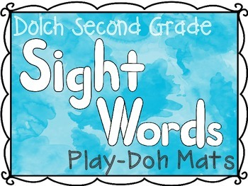Second Grade Dolch Sight Words Play-Doh Mats
