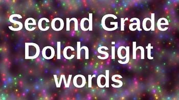 Second Grade Dolch Sight Words Powerpoint - Lights