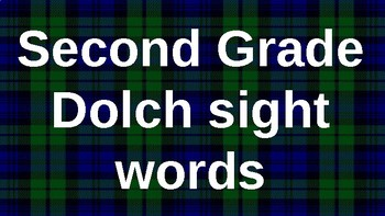 Second Grade Dolch Sight Words Powerpoint - Plaid