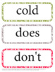 Second Grade Dolch Sight Words - Word Wall