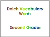 Second Grade Dolch Vocabulary Sight Words PowerPoint and F