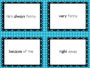 Second Grade - Dolch Word Fluency Packet #1