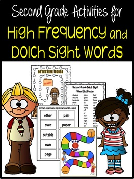 Second Grade Dolch and High Frequency Activity Packet