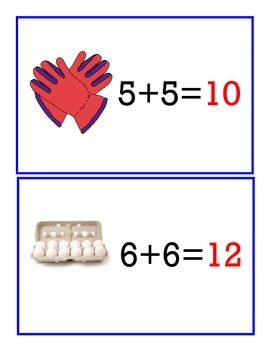 Second Grade Doubles Posters (1-10) FREEBIE