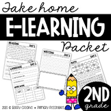 Second Grade E-Learning Packet (Distance Learning)