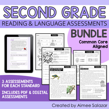 Second Grade ELA Assessments BUNDLE