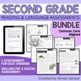 Second Grade ELA Assessments BUNDLE / Distance Learning
