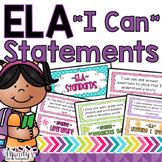 """""""I Can"""" Statements: Second Grade ELA"""