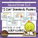 """Second Grade ELA Common Core Standards - """"I Can"""" Posters"""