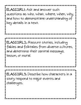 Second Grade ELA Common Core - Teacher Version
