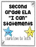 Second Grade ELA I Can Statements