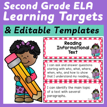 Second Grade ELA I Can Statements (Learning Targets) for the Common Core