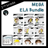 Second Grade ELA Mega Bundle (OVER 800 EDITABLE Items!)