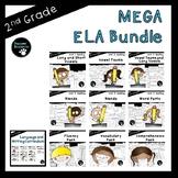 Second Grade ELA Mega Bundle (OVER 800 EDITABLE Items!)