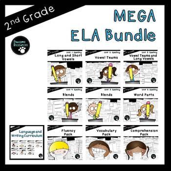 Second Grade ELA Mega Curriculum Bundle (OVER 800 EDITABLE