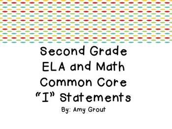"""Second Grade ELA and Math CCSS """"I Can"""" Statements: Owl-Themed"""