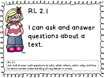 Second Grade ELA and Math Common Core Standards Posters
