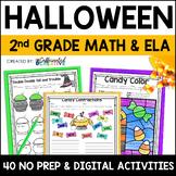 Halloween Digital & NO PREP Printable Math and ELA Activities