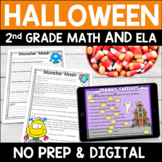 Halloween Literacy and Math Activities: No Prep Second Grade