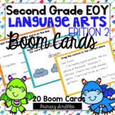 Second Grade (EOY) Language Arts Review BOOM Digital Task Cards Edition 2