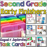 Early Finisher Task Cards for 2nd Grade - August and September