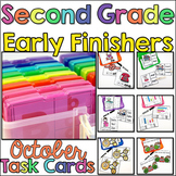 Early Finisher Task Cards for 2nd Grade - October