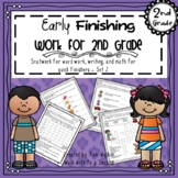 Second Grade Early Finisher Work Set 2