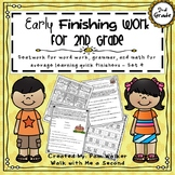 Second Grade Early Finisher Work - Set 4