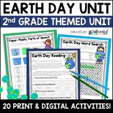 Earth Day Digital & NO PREP Printable Math and ELA Activit