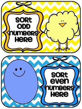 Second Grade Easter Math Centers