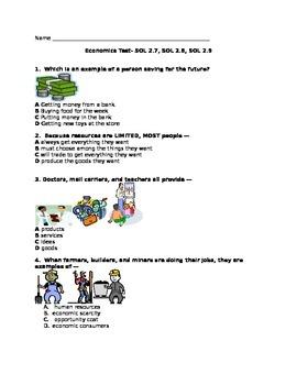 Second Grade Economics Test